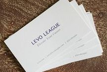BUSINESS CARDS / Make your business card stand out. Here are some of our FAVORITES. / by Levo League