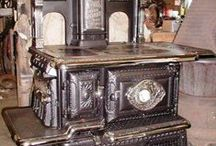 Wood Stoves, Fireplaces & Old Cookin Stoves  / by Lucille Kerner