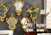 Mirror, mirror on the wall... / Mirror in design...an essential! / by Ellen Stanclift