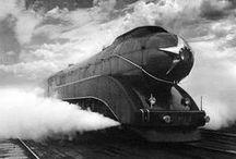 Streamliner locomotives, photos / Futuristic streamlined art deco aerodynamic dieselpunk railroad engines / by Dave A