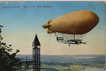 Airships, blimps, dirigibles, balloons, zeppelins / lighter-than-air, historic, imaginary, steampunk, dieselpunk, airship, blimp, dirigible, zeppelin / by Dave A