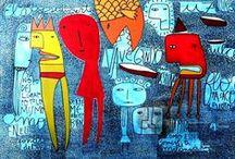 milo lockett / artista plástico- argentina, chaco. mucho color y trazos primarios sin pretensiones... a soltarse y emprender vuelo con nuestros propios pinceles! / by marta faur
