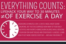 Fitness Inspiration via Infographics!  / Read something here to inspire & inform YOU! :: I believe that broadening your knowledge & taking part in exercise are imperative for improving your wellbeing. :: Be sure to check that all facts in an infographic are true before taking their advice! / by W for Wellbeing