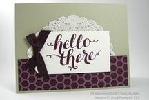 Hello / Hello and General Greetings / by Stampin' An Ink Trail
