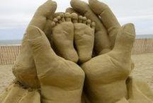 Esculturas Naturais  / esculturas em areia, gelo, frutas / by ivete barbieri