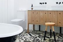 Bathroom: Scandinavian Modern meets Traditional / Tubs, sinks, faucets, tile & more. Inspiration for a sleek luxurious bathroom / by Kristen - Storefront Life