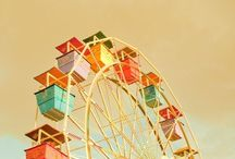 carnivals, ferris wheels, & other rides / by Karen Haines