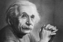 Albert Einstein / Frases de Einstein, que já foi eleito a pessoa do século pela Revista Time. Frases inteligentes e cheias de genialidade. Leia e inspire-se! / by Mensagens com Amor