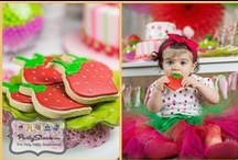 Strawberry Themed Birthday Party / This would be a perfect theme for a first birthday party! / by Partystock