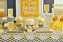 Yellow and Gray Party Ideas / by Partystock