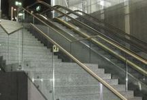 Modern Stairs, Balusters, and Newels / Modern glass and stainless steel staircases, rails, and newels / by Venetian Stairs