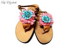 Χειροποίητα Σανδάλια 2013 / by Handmade Shoes By Elizabeth