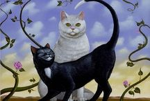 Artists Portrayal Of Our Feline Friends- <3 / by Velma Hoefgen
