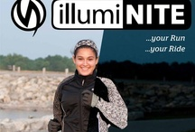 Incredible illumiNITE / illumiNITE is patented technology that creates a retro-reflective surface on fabric reflecting light back to a light source. Created to enhance the visibility of runners and cyclists sharing the road with drivers in low light conditions.  / by Night-Gear
