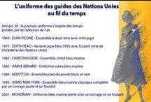 { Évolution de l'uniforme } / Véritables ambassadeurs auprès du public, les guides des Nations Unies contribuent à façonner l'image de l'Organisation.  Voici l'histoire en images de l'uniforme des guides de l'ONU (au Siège, à New York).  / by Organisation des Nations Unies (ONU)