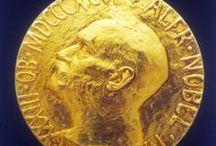 { L'ONU et le prix Nobel de la paix }  / Tour d'horizon des prix Nobel de la paix qu'ont reçus l'ONU, ses institutions et son personnel en 60 ans d'existence. / by Organisation des Nations Unies (ONU)