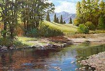 painting--Environments/Nature / Oil/watercolor/pencil/charcol / by jesu kiran