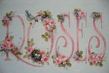 ~Roses~ / ~ I love roses ~ Specially the painted roses and the cliparts / by ღ✻ Willemijntje's Brocante hoekje ღ✻