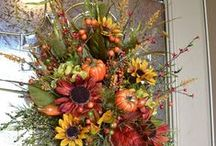 Thanksgiving/Fall - Wreaths / Beautiful assortment of creative wreaths celebrating all of the things we are thankful to have / by Therese Scribner