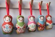 Matryoshka Nesting Dolls / Matryoshka, Nesting Dolls, Russian dolls, Матрёшка / by Simone W