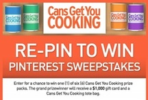 Cans Get You Cooking Re-Pin to Win / Watch and repin one of our videos from this board and be entered to win one (1) of six (6) Cans Get You Cooking prize packs. The grand prizewinner will receive a $1,000 gift card and a Cans Get You Cooking tote bag. / by Cans Get You Cooking