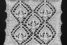 Knitting: Flowers, Leaves, Vines, Etc. / Lace patterns containing acorn, agave, branches, faggot, fern, fireworks, flame, flowers, hearts, leaves, tulips, vines, waves, wheat, Etc. / by croknit86