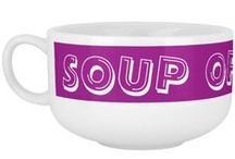 SOUP OF THE DAY Mugs by Janz / Custom Soup Mug Designs by Janz © 2008-2014 Jan Fitzgerald. All rights reserved. Graphic Design, Artwork, & Photography by Jan & Michael Fitzgerald. / by Pillow Talk by Janz