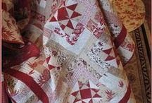 Quilting: Red, White (Cream/Gray), and sometimes, blue / Love red & white quilts and patriotic quilts! / by Liz Leahy