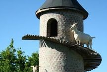 Goat Housing / Housing for goats; barn plans; feed storage; hay storage; lightning / by Baby Goat Farm