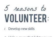 Volunteering / by Kilgore College Service Learning