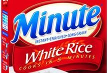 Minute Rice Products / Whether you have 30 minutes or 30 seconds to prepare a snack or dish, our goal is to help make mealtime quick, easy and delicious. We offer a variety of products for all lifestyles and cooking skills, from our classic Minute Rice to the new Minute Rice Ready-To-Serve 60-second microwavable cups, there's something for everyone. / by Minute Rice