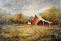 Artists that Astound / Some of my favorite art by artists who are either local or create art in the St. Charles County area.  For whatever reason, several of the pieces I like are of old barns.... there's just something about them that evokes a feeling when I see paintings of them.  / by The Inn At Defiance