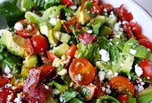 Savory Salads / All about salads and salad dressings / by Joy (LILSWEETS4U) Jacobs