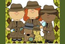 CG Detective Theme / Educational ideas, products, and games for detective themed classrooms / by Carol's Teaching Garden