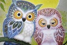 Búhos--Dibujos y pinturas / by Isolina M Martinez