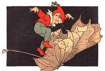 Het kleine volkje~Elves~Nisse~Tomte~Gnomes~Die klein volkie / by Marijke Stellaart