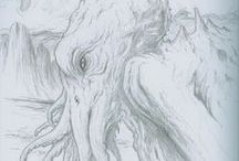 My Science Fiction and Fantasy Drawings / Most are available for purchase on ebay. / by DAVID ELLIS