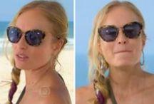 óculos de sol em figurinos / Looks com óculos escuros em figurinos de novelas e programas da tv. / by blog Moda de Novela