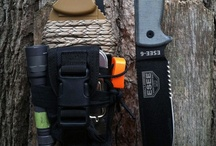 Survival Knives / Knives used for functional uses in survival techniques.  Paracord wrapped handles, knife batoning, and realistic every day carry knives for survival situations.  / by Weapons Living