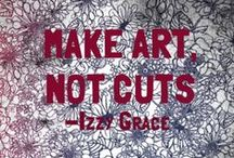 Make Art, Not Cuts (Original) / Empowering girls and guys to stop self harming and beat their devils. One day I want everyone to make art, not cuts. -Izzy STAY TUNED FOR EXCITING INFO:) / by ιzzу gɾåçє