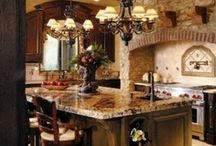 KITCHENS / I love different styles of kitchens. My favorite styles are tuscan, rustic and old world. I hope these pictures help inspire you for your dream kitchen!  / by ♡Gina ♡