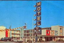 """Hotel : Motel / Mostly colour American hotels and motels, retro, mid-century modern images. Check out my other boards such as """"Signs, Emblems and Words"""", """"Vacations and Leisure"""" which cover the same eras.   / by Andrew Trute"""