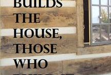building a house / by Christina Weeks