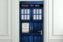 TARDIS Blue / I am the Doctor.  Doctor Who?  Just, the Doctor. TARDIS, blue, box, companion, time, Lord, machine, Dalek, universe, Gallifreyan, Whovian, screwdriver, bigger, inside, bad wolf, christmas, fez, fantastic, geronimo, allons-y, crack, ood, cyberman, phone, blink, run / by Hélène Robert