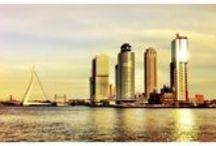 Rotterdam / Rotterdam = Water _ Onbegrensde Architectuur _ Inspirerend _ Ruimtelijk _ Industrieel _ Modern _ Blauw-Groen _ Rechthoek _ 7 _ Noord-Zuid _ 010 _ Randen _ Veelzijdig _ Daden _ Stoer / by Jan-Kees de Vries