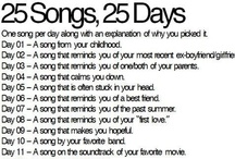 25 Songs for 25 days / by Jeff Smith