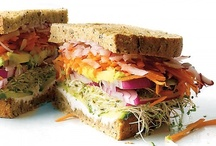 Sandwiches, Paninis and Wraps / Sandwich, Panini and Wrap goodness / by Stacey Dovey