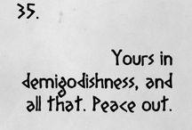 Demigodishness and the like / by Samantha