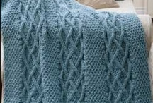 Knit Afghans & Pillows-Baby & Big Kid size / by Chris Z