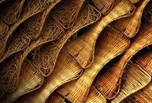 basket...grass...stick...wood...stone / by marta woo